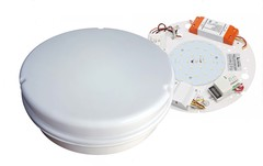 IP65 3hr Emergency Maintained LED Bulkhead With Microwave Sensor