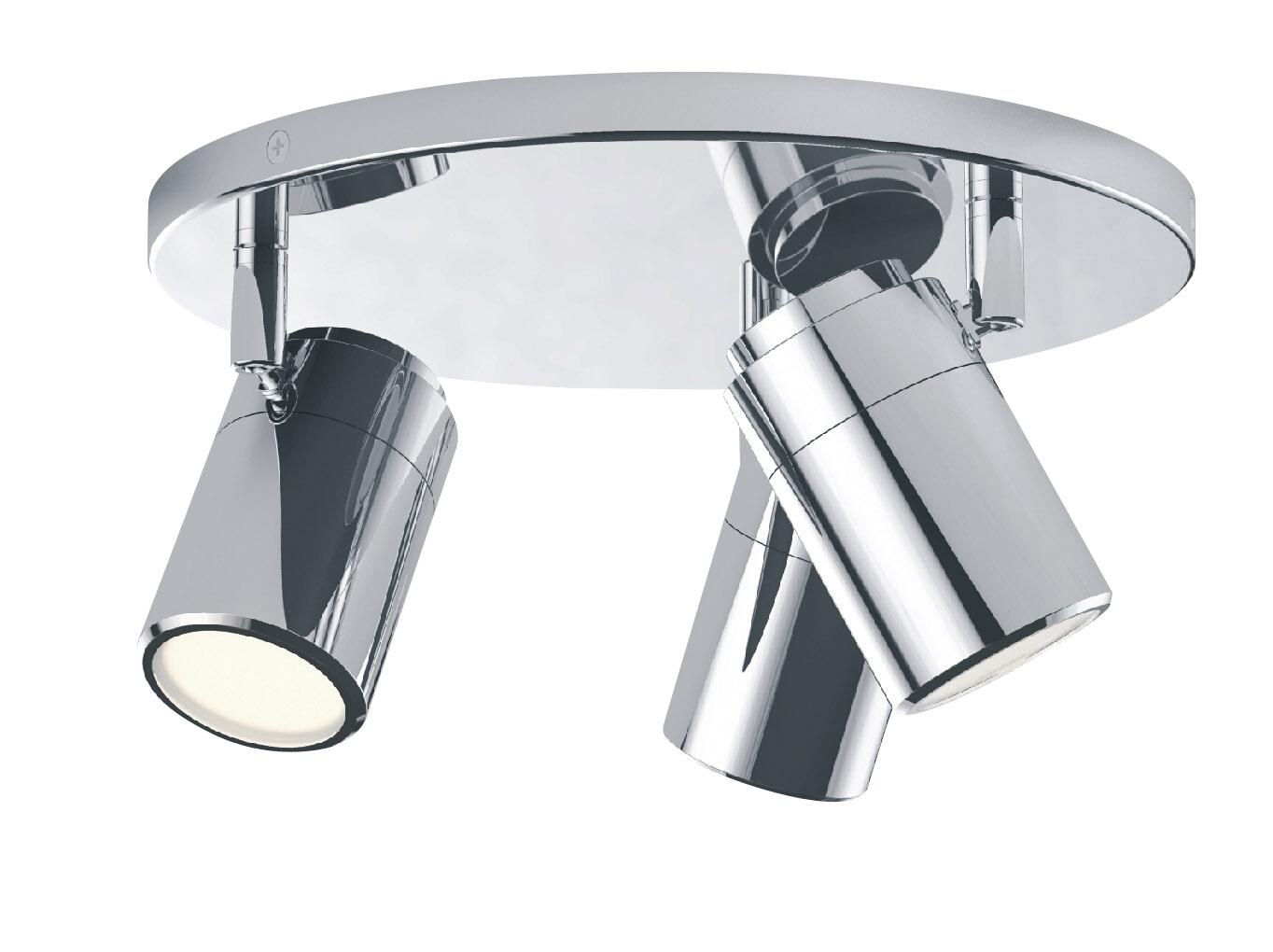 Modern Led Bathroom Ceiling Light Chrome Finish Ip44 Rated: Triple Spot Bathroom Ceiling Light