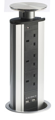 Powerport Popup Worktop Socket and USB adapter